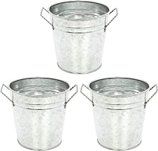 Hosley's 3 Pack of Galvanized Planters - 5