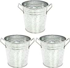 Hosley's 3 Pack of Galvanized Planters - 5