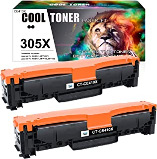 Cool Toner Compatible Toner Cartridge Replacement for HP 305A 305X CE410X CE410A HP Laserjet Pro 400 Color Toner M451dn M4...