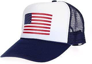 American Flag Patriotic USA Classic 5 Panel Mesh Snap Back Trucker Hat