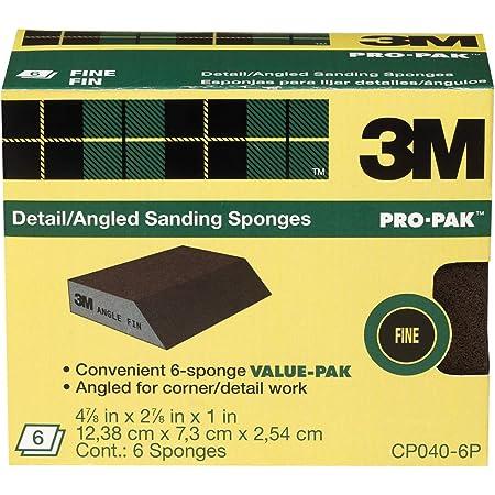 3M Angled Sanding Sponge, 2.87-in by 4.87-in by 1-in, 6-Sponge Value Pack