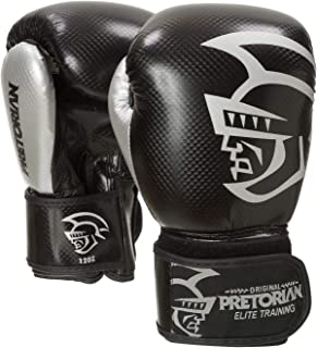 LUVA DE BOXE/MUAY THAI PRETORIAN ELITE TRAINING 10oz PRETA