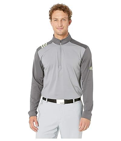 adidas Golf 3-Stripes 1/4 Zip (Grey Three/Grey Five) Men