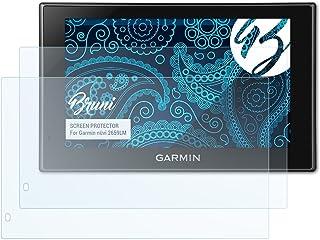 Bruni Película Protectora para Garmin nüvi 2659LM Protector Película, Claro Lámina Protectora (2X)