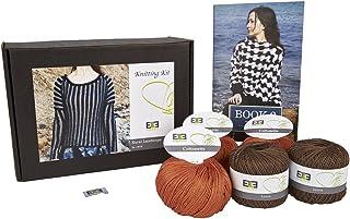 DesignEtte Knitting Kit Rural Landscape Linen/Cotton Cutch Tree/Burned Orange M
