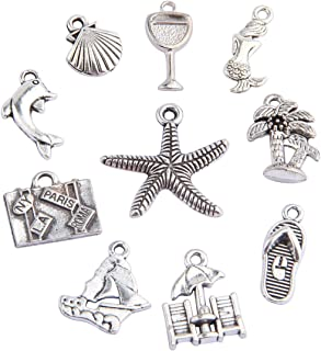 20pcs Travel Ocean Animals Assorted Charms DIY Jewelry Making