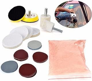 Lavino 34pcs Mayitr Glass Polishing Kit Deep Scratch Remover 8 Oz 230 G Cerium Oxide Powder And Polishing Pads Sanding Disc 50mm/2