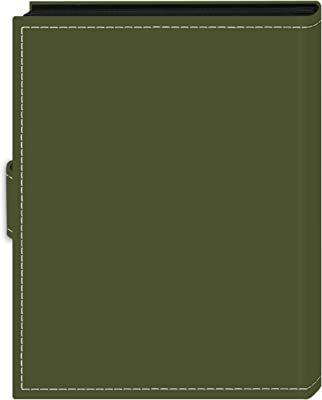 """Pioneer Photo Albums 36-Pocket 4 by 6-Inch Embroidered """"Photos"""" Strap Sewn Leatherette Cover Photo Album, Mini, Sage Green"""