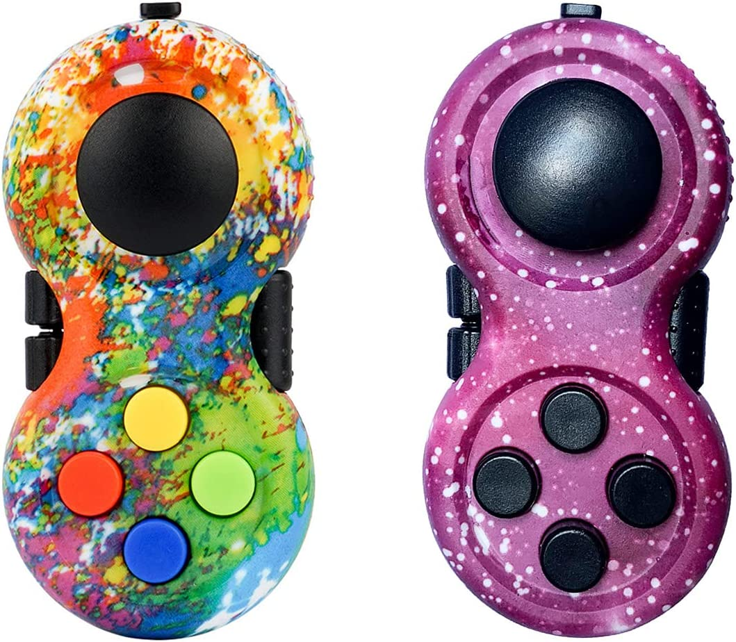 2 Pieces Colorful Fidget New Indefinitely products world's highest quality popular Fidg Controller Handheld Pad