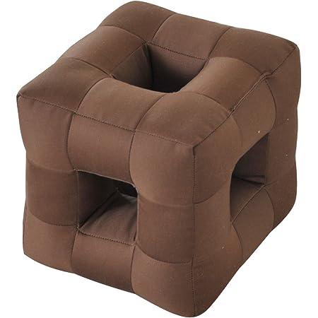 山善 テレビ枕 幅18×奥行18×高さ18cm 寝ながら 音が聞こえやすい 完成品 ダークブラウン YDM-DBR