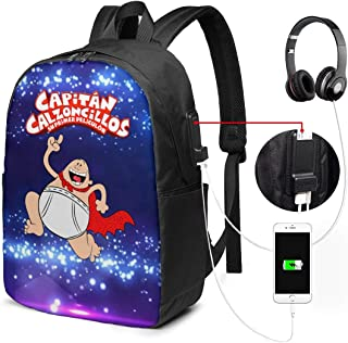Funny Cptain Uderpants 成人男女つうよう Schoolbag For Mens And Womens 大容量肩に包む携帯日常リュック学生子供が男の子と女の子かばん学校通学/旅行/オフィス