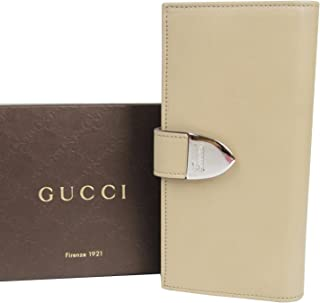 fcf53881c55 Gucci Continental Signoria Beige Leather Clutch Wallet 231837 2609