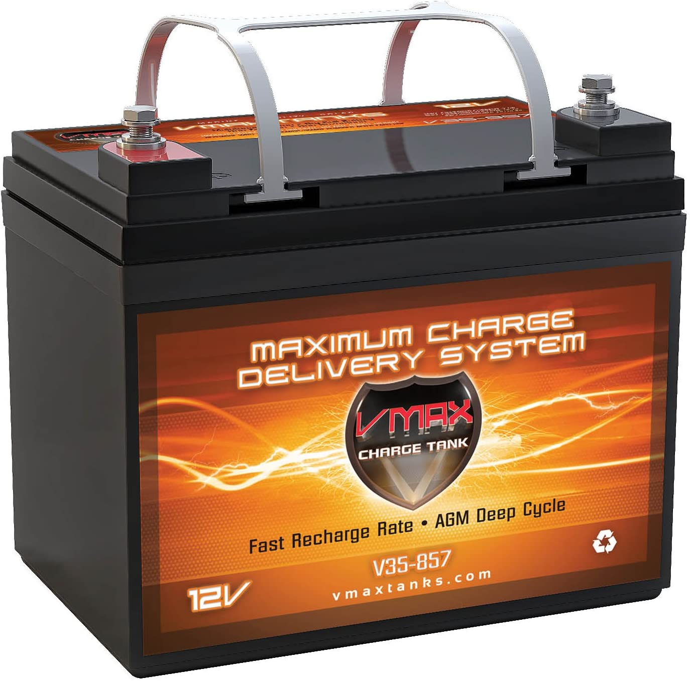Max 67% OFF of fixed price 64% OFF VMAX857 AGM Deep Cycle Group Compatible U1 Replacement Battery w