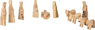 11 Pc Handcarved Olive Wood Nativities from Around the World - Holy Land