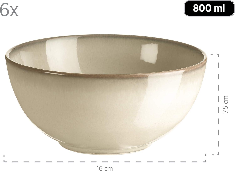 M/äser Geschirr-Set Keramik Ossia Anthrazitblau