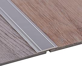 Gedotec Overgangsprofiel aluminium zilver geanodiseerd - super plat | 1 stuk - overgangsrail - zelfklevend | afmetingen: (...