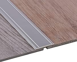 Gedotec Übergangsprofil selbstklebend SUPERFLACH Silber eloxiert Übergangsschiene | Breite 30 mm | Länge 100 cm | Boden-Profil Laminat - Fliesen - Parkett UVM. | 1 Stück - Ausgleichsprofil Aluminium