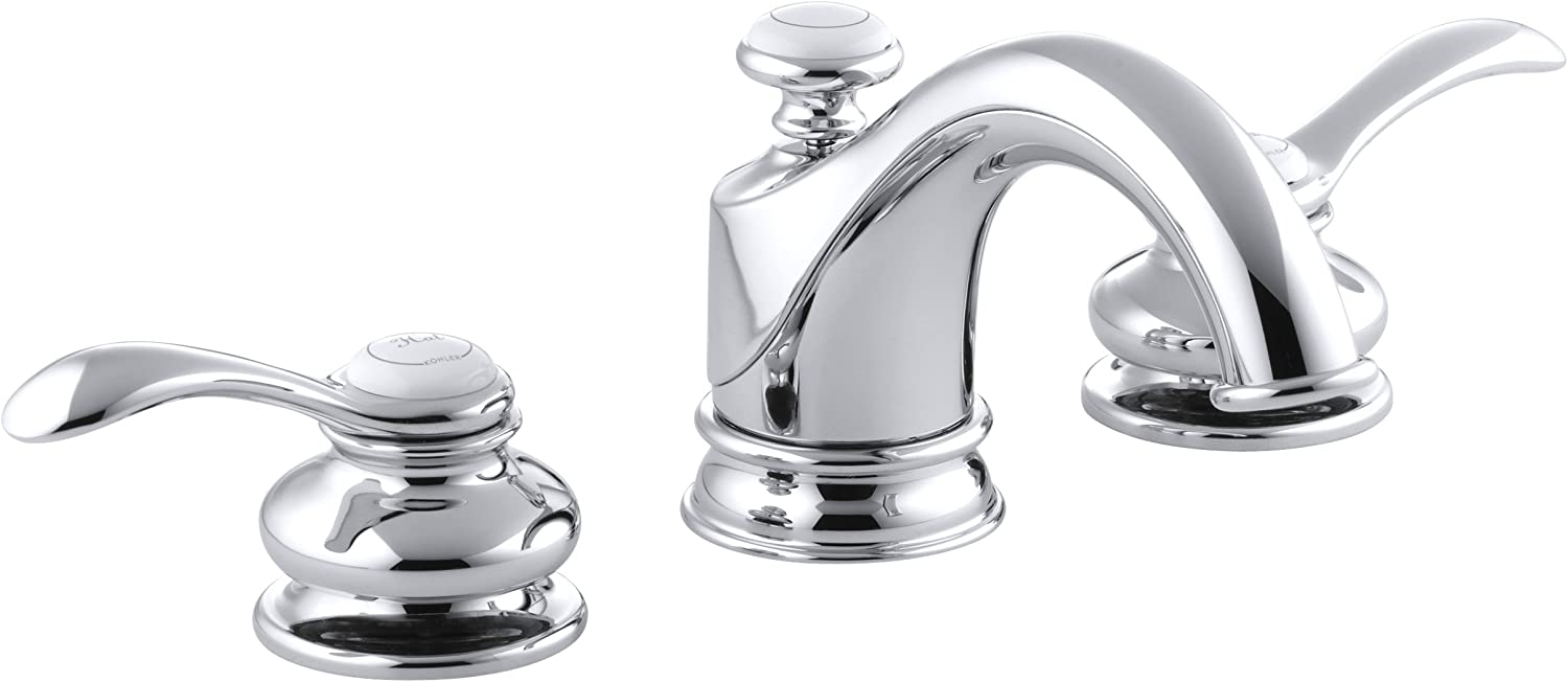 Kohler K-12265-4-Cp Fairfax Widespread Lavatory Faucet, Polished Chrome