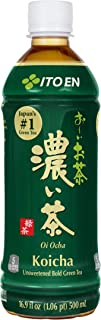 Ito En Oi Ocha Unsweetened Bold Green Tea, 16.9 Fluid Ounce (Pack of 12), Unsweetened, 0 Calories