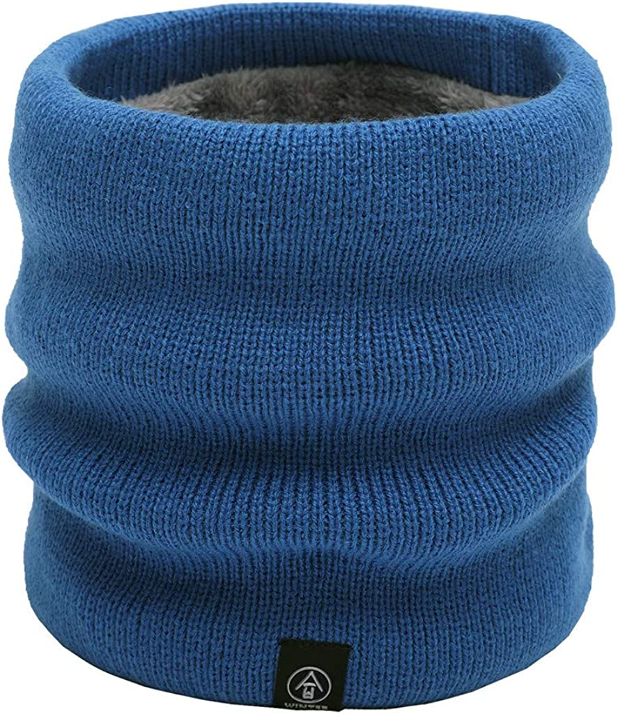 Fxbar Unisex Autumn Winter Solid Warmer Knitted Scarf Scarves Shawl Cowl Scarf