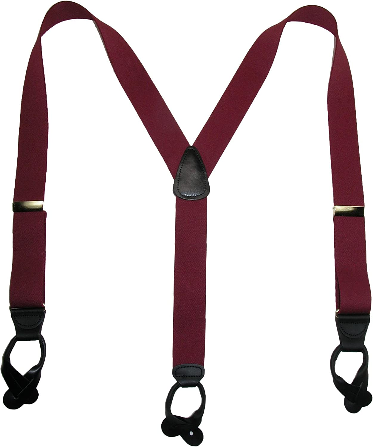 CTM Men's Elastic Button-End Y-Back Suspender with Bachelor Buttons