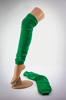 gestrickte Beinwärmer Stulpen Farbe grün ca. 50cm lang HaPeKoPa©