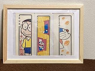ドラえもん 浮世絵 浮き世絵札 3枚セット 日本製+額付き/藤子f不二雄 漫画 日本 50th 藤子不二雄