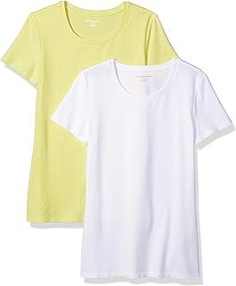 4bfeb3d57036 Amazon Essentials Women s 2-Pack Short-Sleeve Crewneck T-Shirt