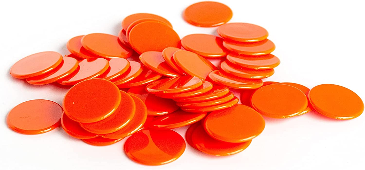 Large-scale sale Plastic Counters: Orange Color free shipping Gaming Hard Plast Colored Tokens