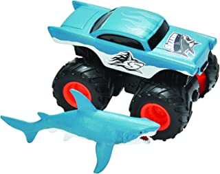 Wild Republic 20654 Truck-Mini Shark & Truck Adventure Playset, Gifts for Kids, Imaginative Play Toy, 2Piece Set