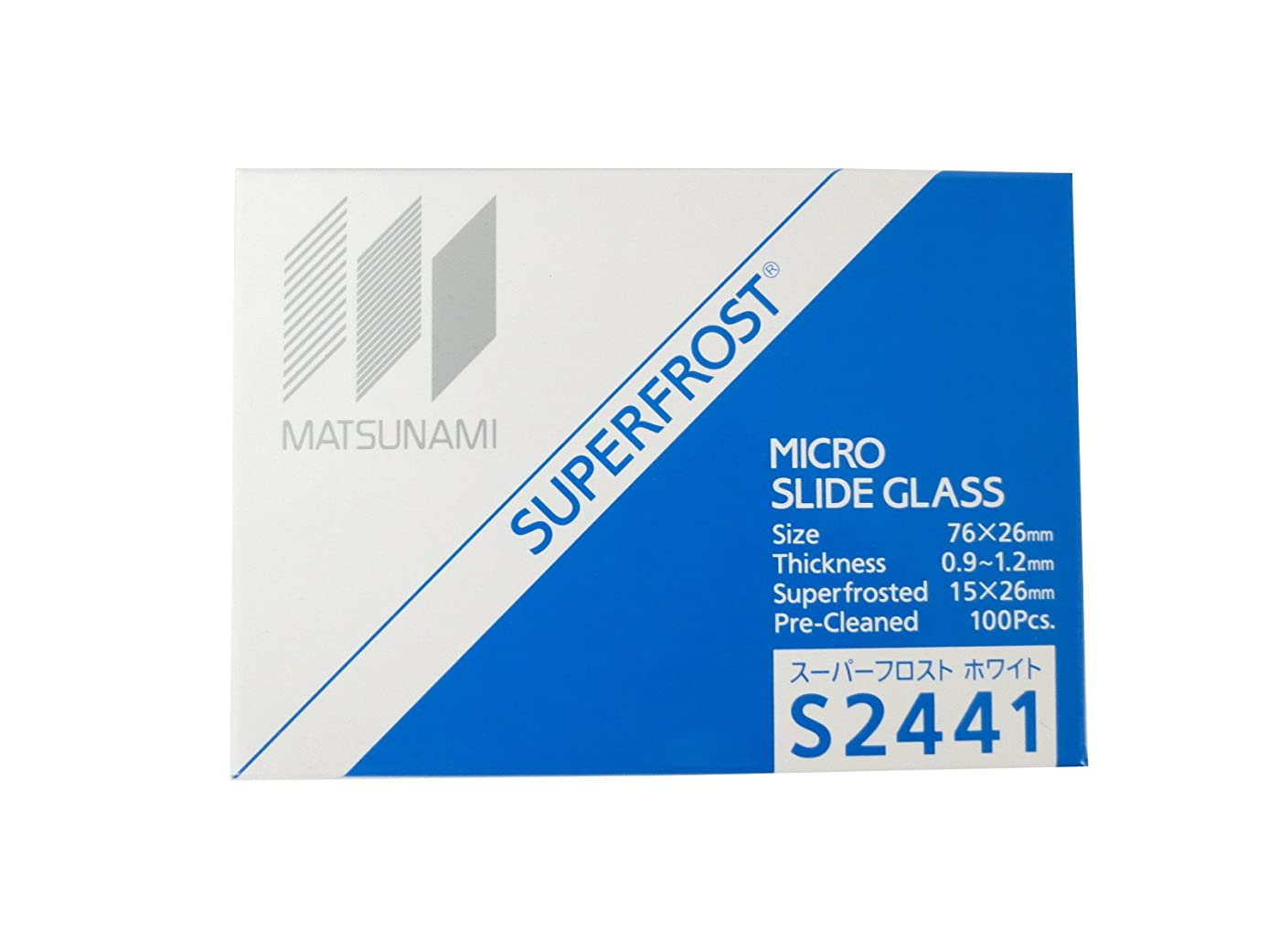 おとなしい精緻化エレメンタル松浪硝子工業 スーパーフロストスライドグラス ホワイト 100枚入 S2441