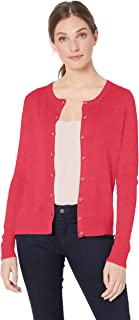 Amazon Essentials Women's Lightweight Crewneck Cardigan Sweater