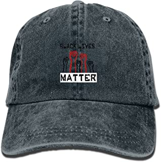 Cowboy Hat Black Lives Matter Adult Adjustable Washed Baseball Cap