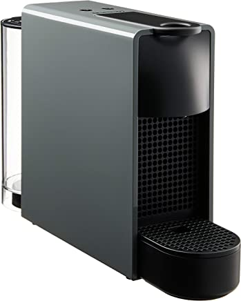 Nespresso Essenza Mini Coffee Maker with Aeroccino Bundle, Intense Grey