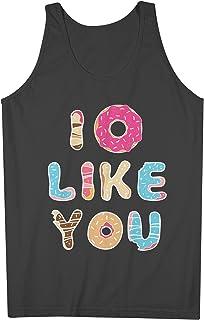 I Do Not Like You おかしいです Doughnut Donut 男性用 Tank Top Sleeveless Shirt