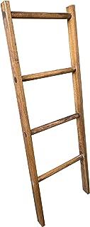Wooden Blanket Ladder by CW Furniture Choose Various Heights Custom Handmade Modern Towel Rack Wood Poplar Towel Ladder Bathroom Ladder Sustainable