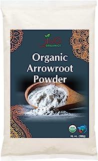 Jiva Organics Organic Arrowroot Flour (Powder) 2 Pound Bag - Raw, Non-GMO