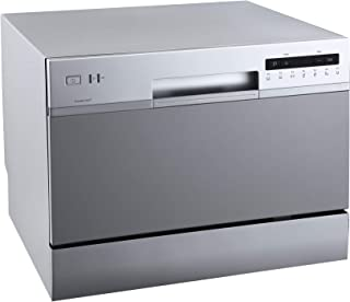 EdgeStar DWP62SV 6 Place Setting Energy Star Rated Portable Countertop Dishwasher – Silver