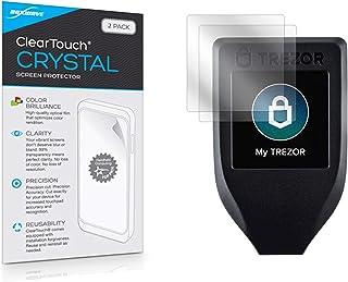 Trezor — Protetor de tela modelo T, BoxWave [ClearTouch Crystal (pacote com 2)] Película HD – Protege contra arranhões par...
