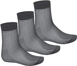 iiniim Men's 3 Pairs Sheer Ultra thin Breathable Silk Summer Dress Socks Crew Socks (Black (Mid-Calf))