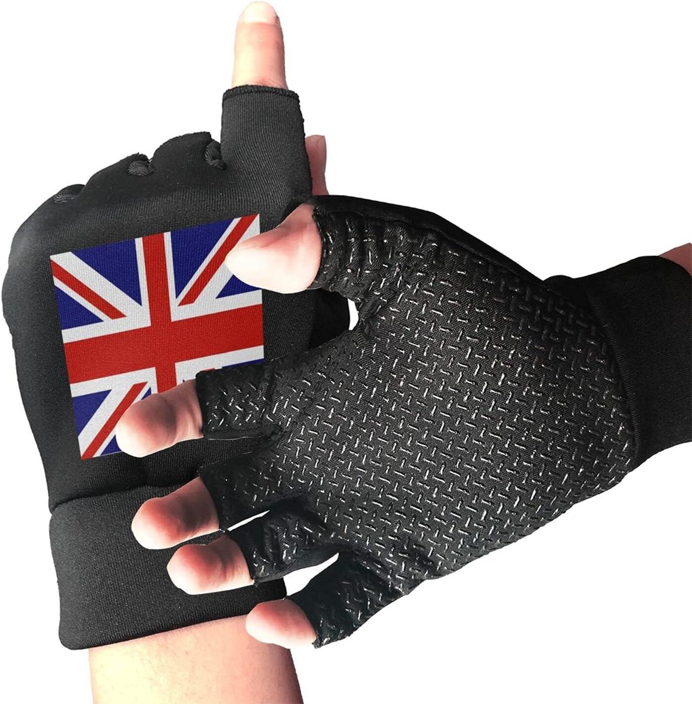 Vintage Union Jack British Unisex Finger Gloves Li Half Challenge the lowest price of Japan 4 years warranty Non-Slip