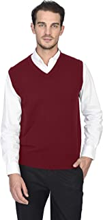 Men's Classic Sleeveless Sweater Vest 100% Pure Cashmere V-Neck Style Pullover