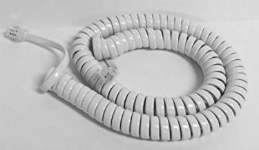 The VoIP Lounge Replacement 12 Foot White Handset Curly Cord for AT&T Phone