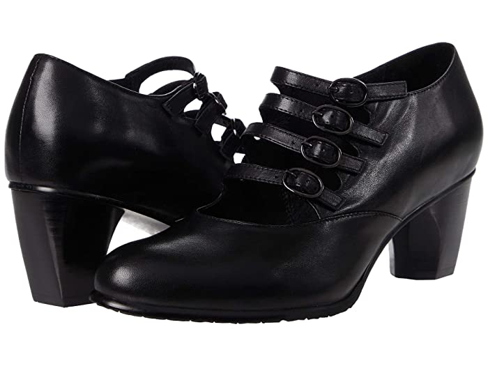 Women's 1920s Shoe Styles and History Spring Step Jacquie Black Womens Shoes $159.95 AT vintagedancer.com