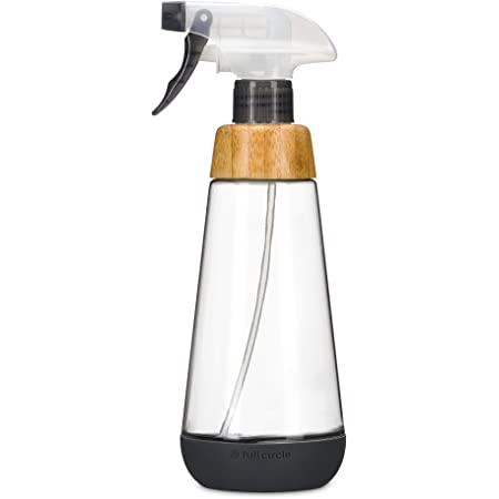 Full Circle Service 16-Ounce Multi-use Refillable Glass Spray Bottle, Gray