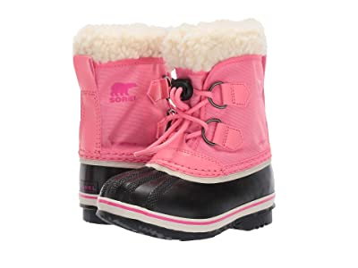 SOREL Kids Yoot Pac Nylon (Toddler/Little Kid) (Lollipop/Pink Glo) Girls Shoes