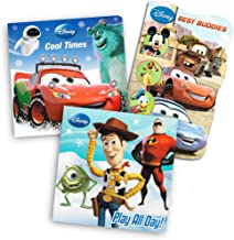 Disney Cars and Toy Story Board Books Set For Kids Toddlers - 3 Books (Disney/Pixar)
