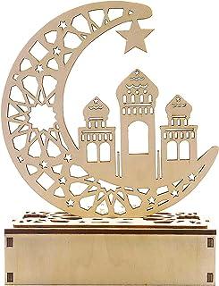Lanterne Ramadan - Demi-lune Star Lanterns Islam Eid - Veilleuse en forme de demi-lune pour l'Aïd musulmane, décorations e...