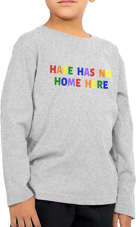 Hate Has No Home Here Kids Long Sleeve Shirts Cotton Sweatshirt Novelty T-Shirt Top Tees 2-6 Years