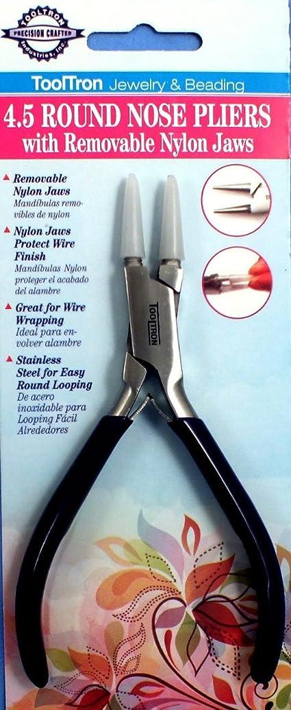 Tooltron 00864 Nylon Jaw Round Nose Pliers, 4.5 wyoqdivo77576